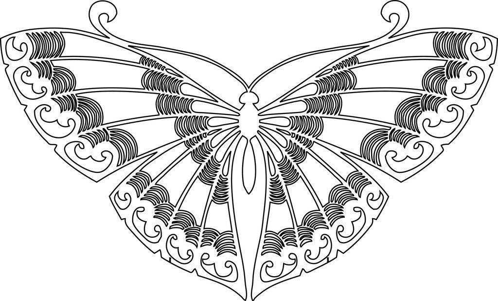 Разукрасить бабочку