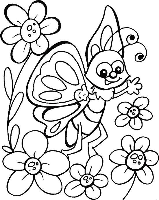 бабочка раскраска для детей 3