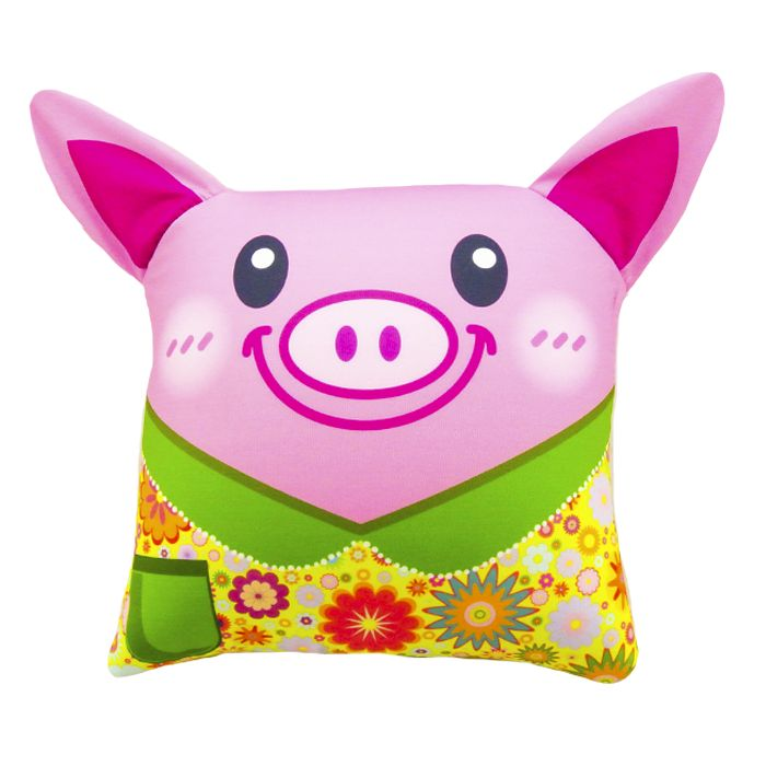 подушка антистресс свинья