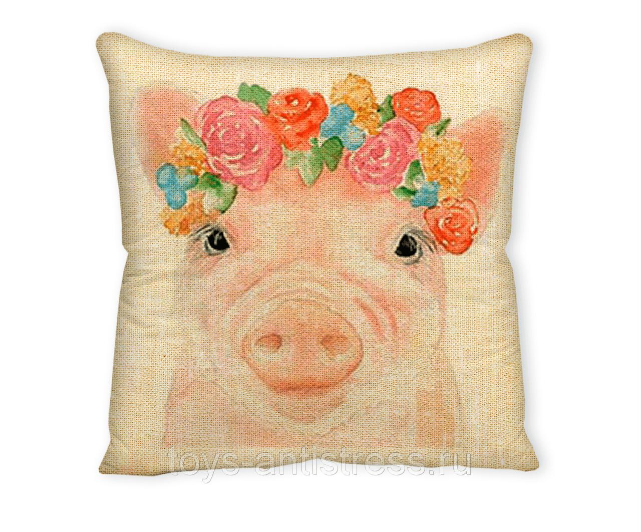 подушка свинка 8