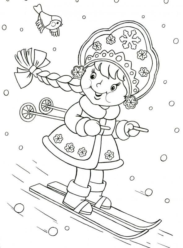 Снегурочка на лыжах