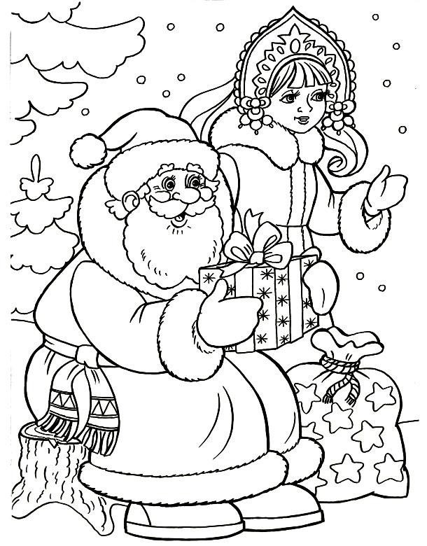 Снегурочка с Дедом Морозом 11