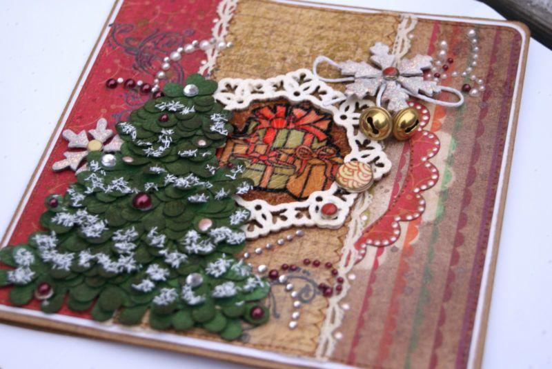 открытка с ёлкой