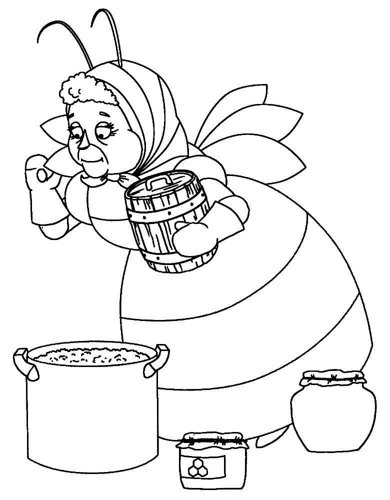 Раскраска баба Капа