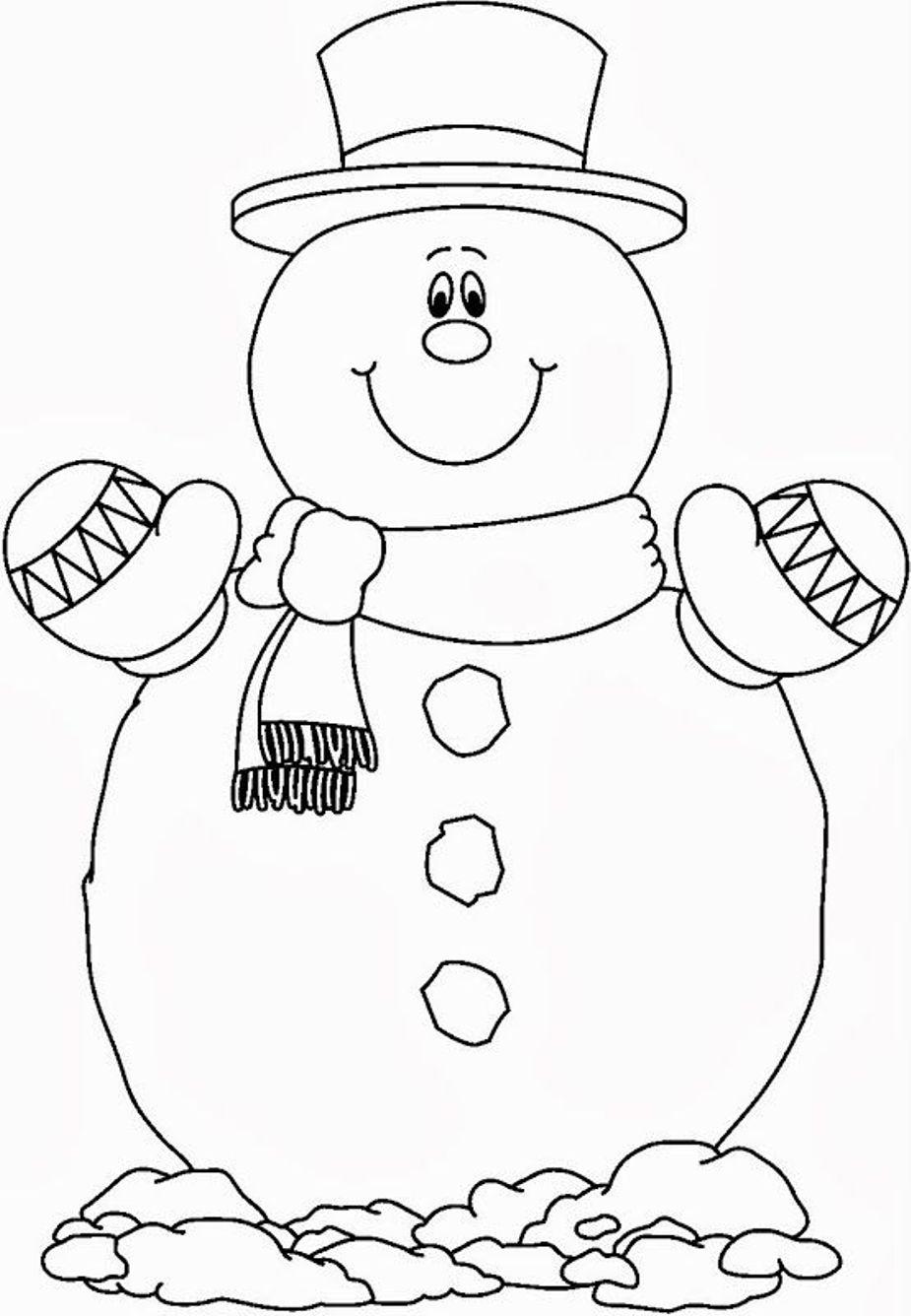 снеговик в варежках