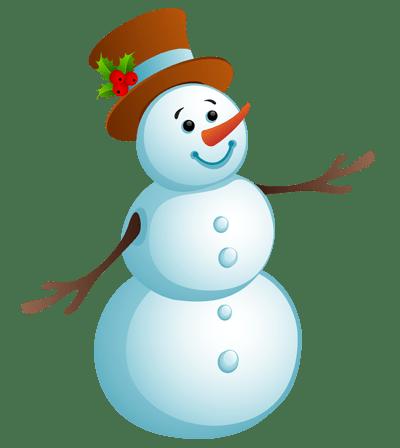 Цветной снеговик.