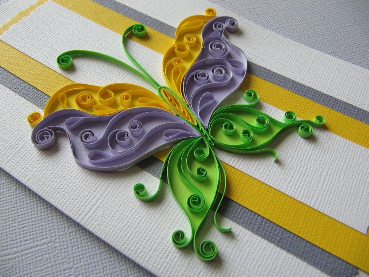Квиллинг бабочка 2