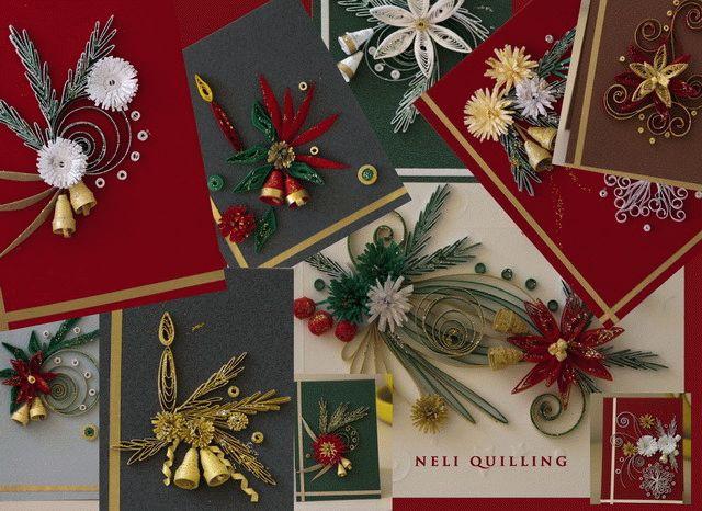 квиллинг новогодние открытки 3