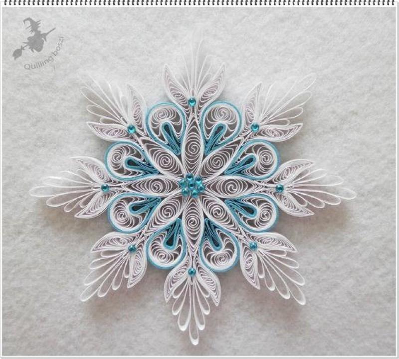 квиллинг снежинка 2