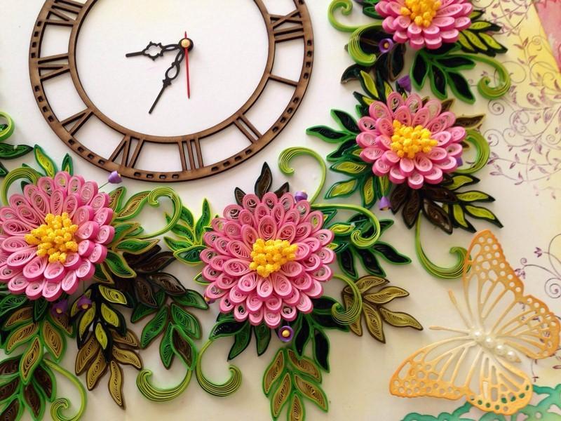 Квиллинг цветы объёмные