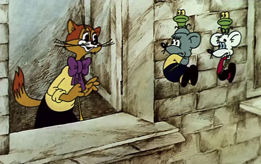 кот Леопольд с мышами