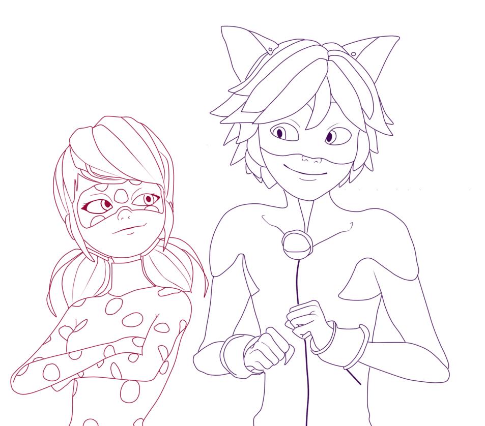 леди Баг и супер кот раскраска 10
