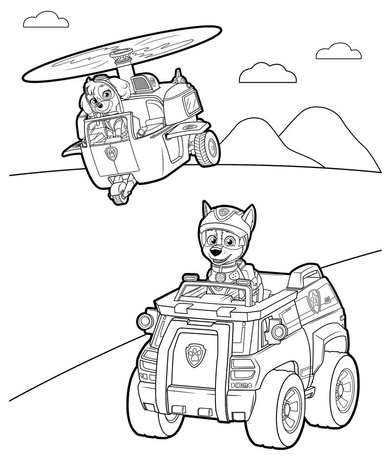 Раскраска щенячий патруль 6