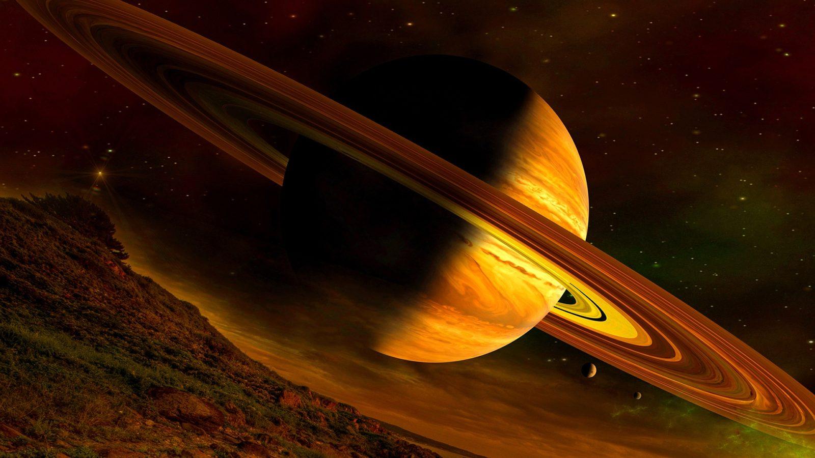 Обои сатурн