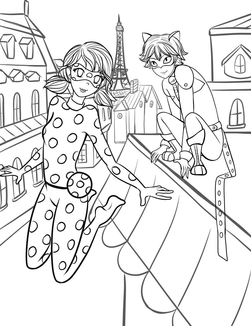 Раскраска леди Баг и супер кот 5