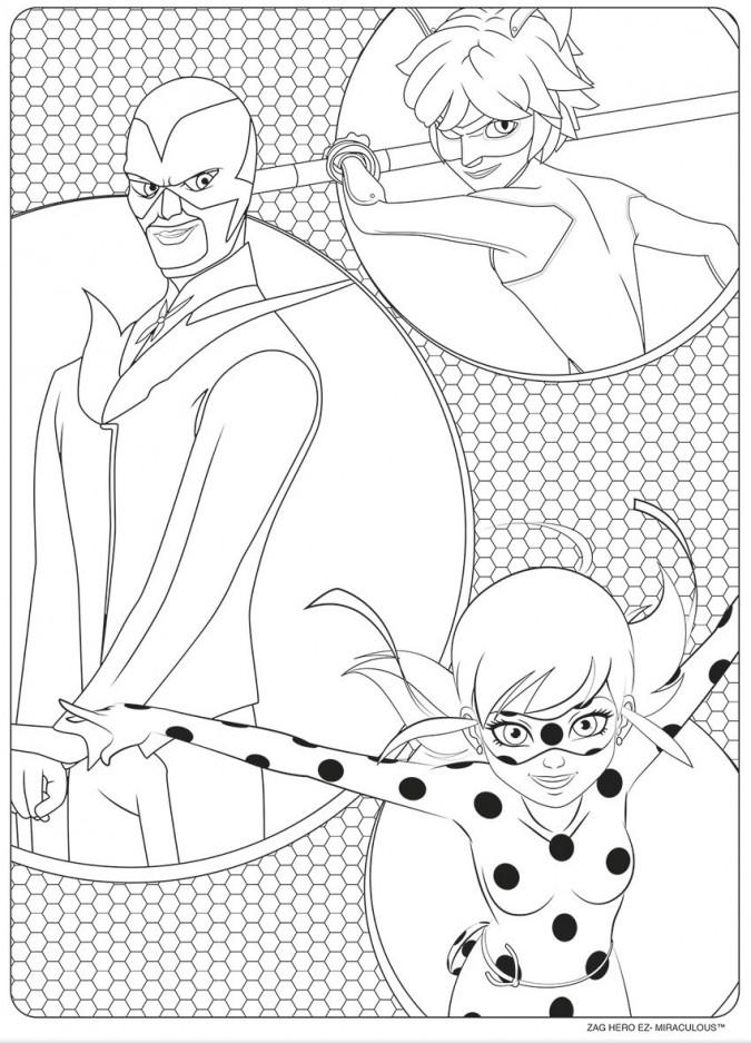 Раскраска леди Баг и супер кот 14