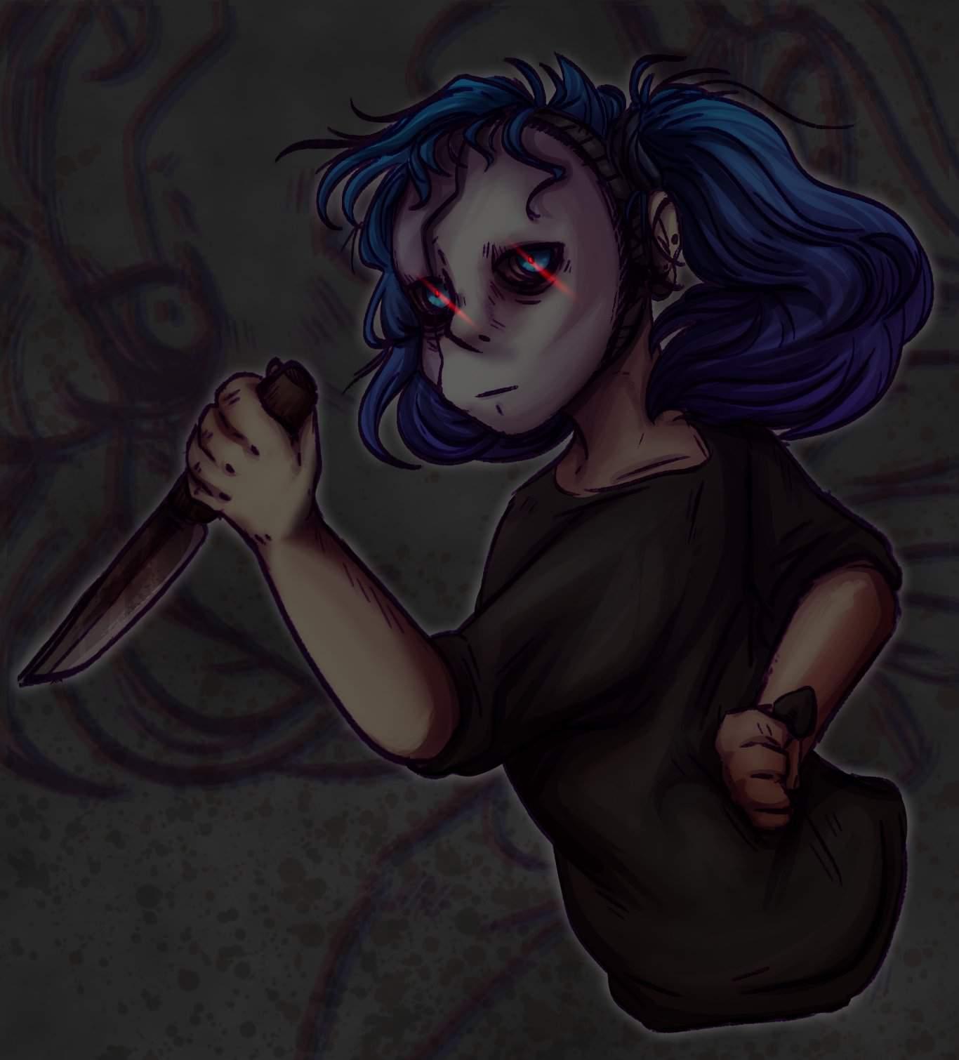 Салли Фейс с ножом