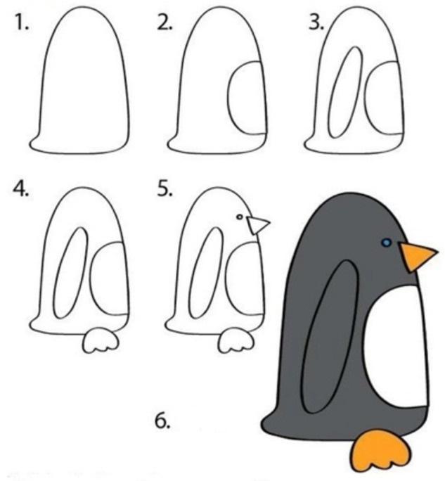 Пингвин рисунок 106