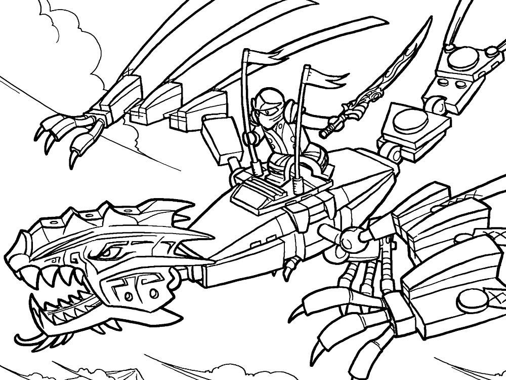раскраска лего драконы