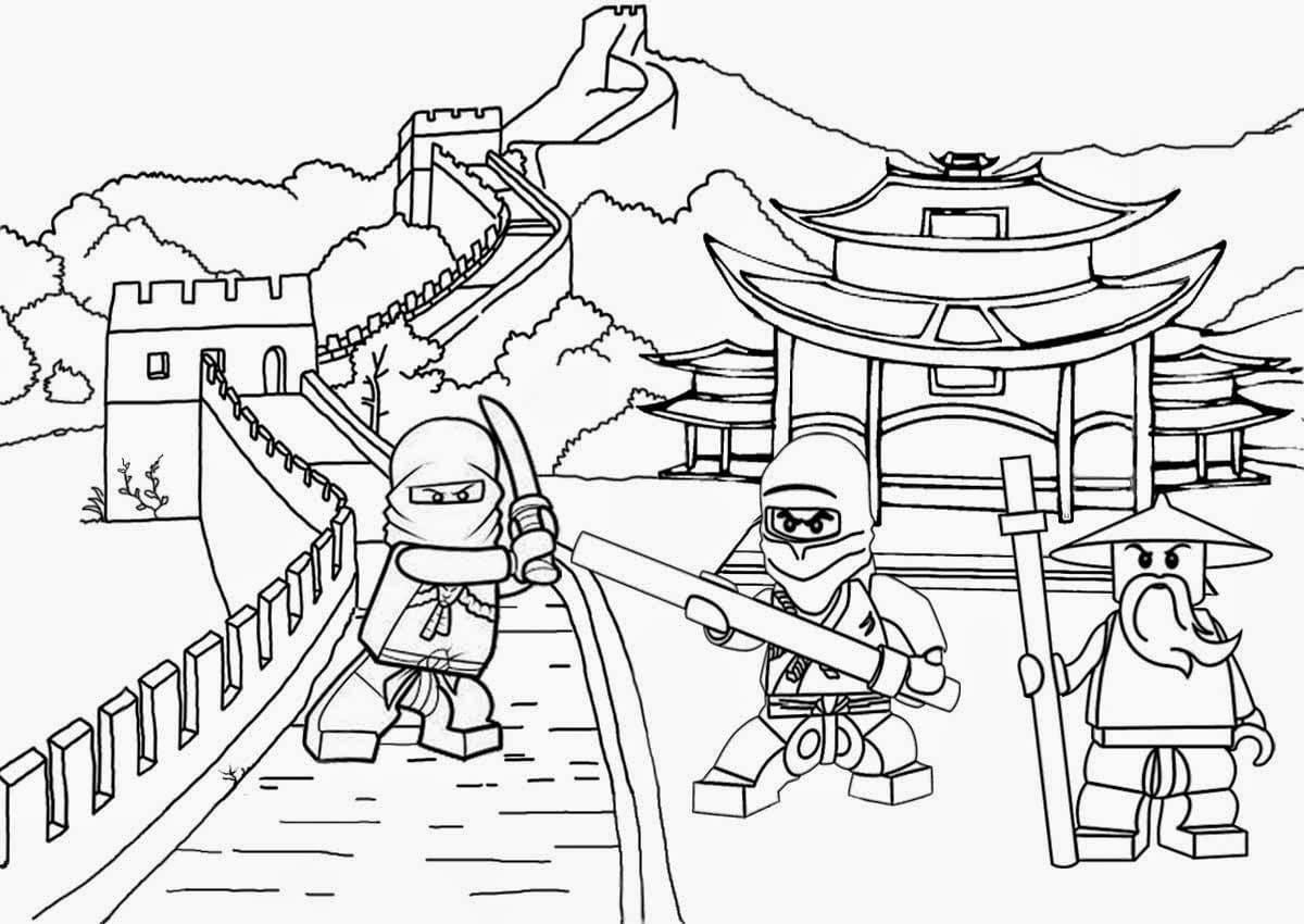 Раскраска лего ниндзяго 9