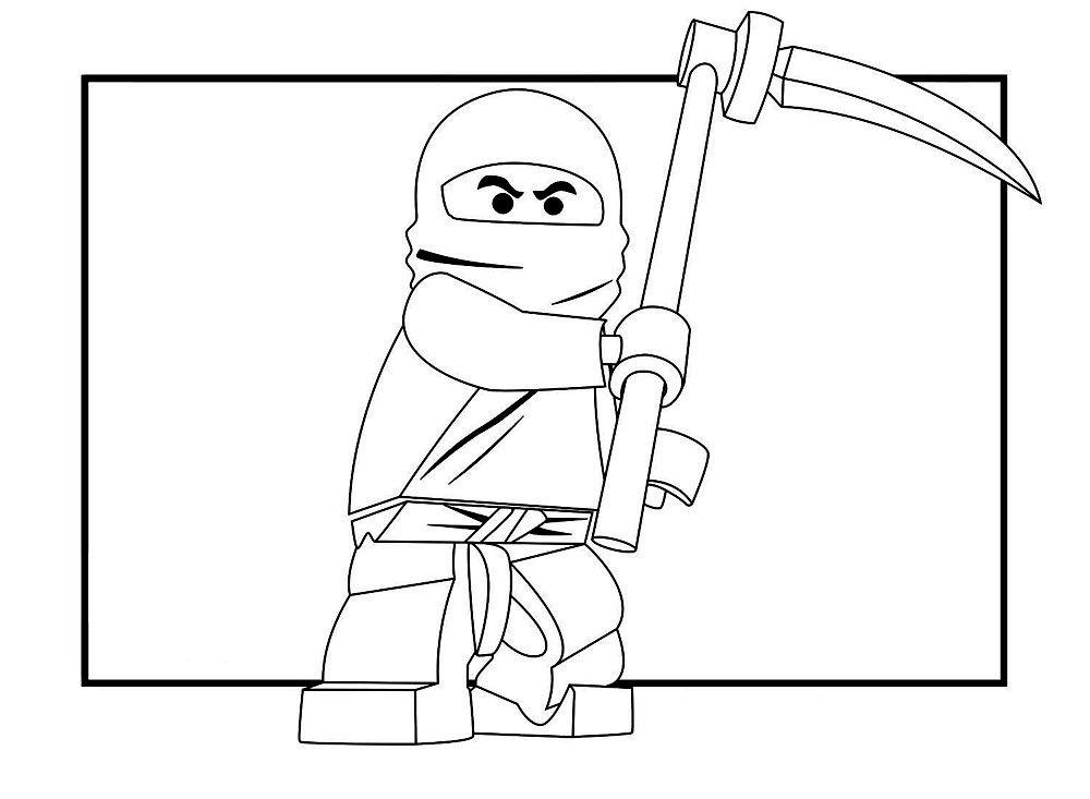 Раскраска лего ниндзяго 5