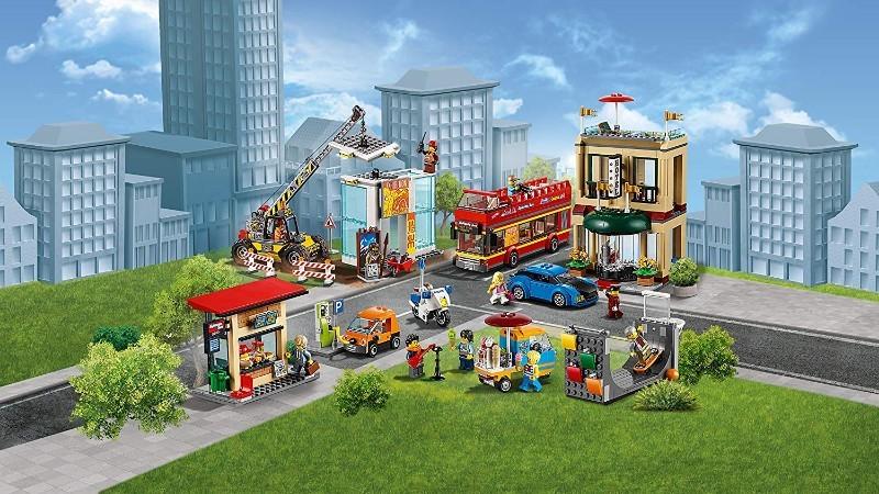 лего майнкрафт город