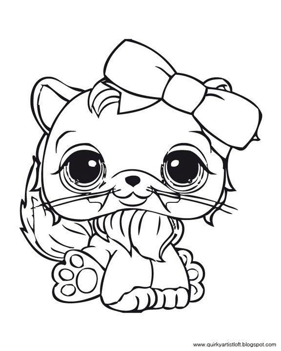 Раскраска Лол котёнок 8