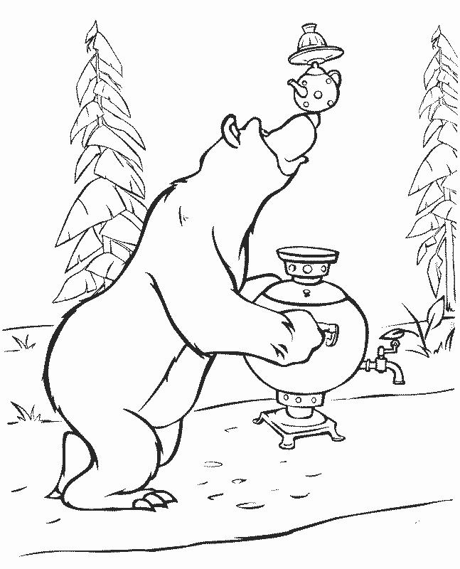 раскраска медведь 33