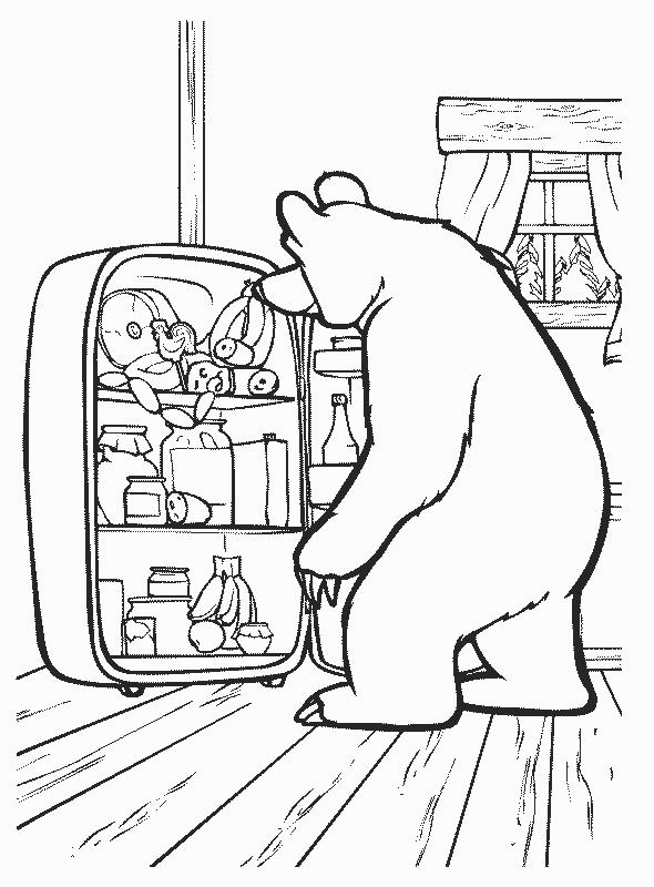 раскраска медведь 25