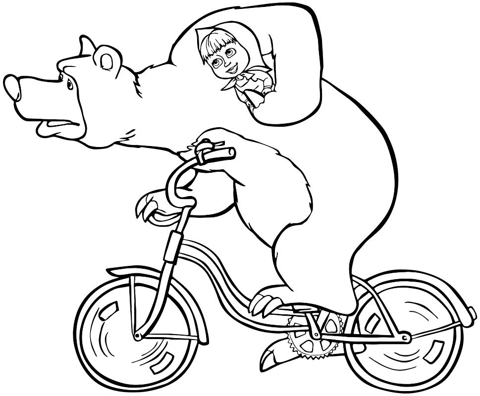 раскраска маша и медведь 11