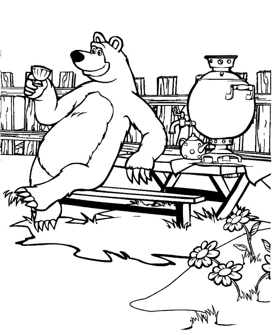раскраска медведь38