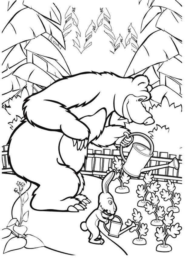 Раскраска медведь 29