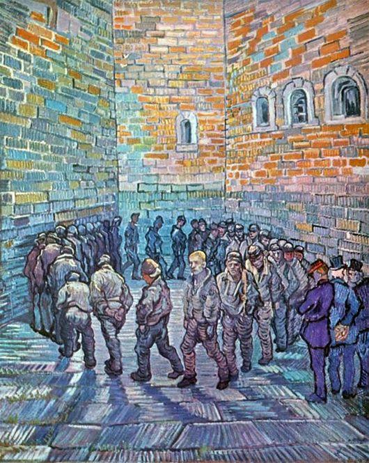 Прогулка заключённых Ван Гог