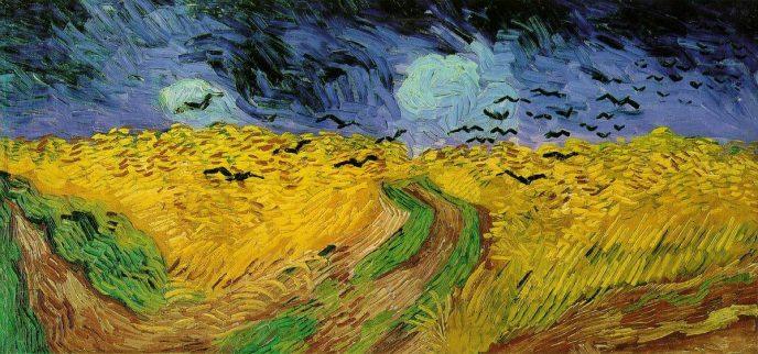 Пшеничное поле с воронами Ван Гог