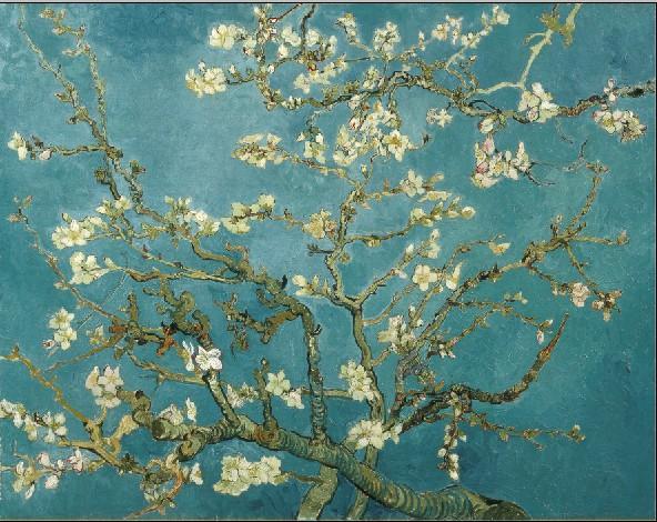 Цветущие ветки миндаля Ван Гог