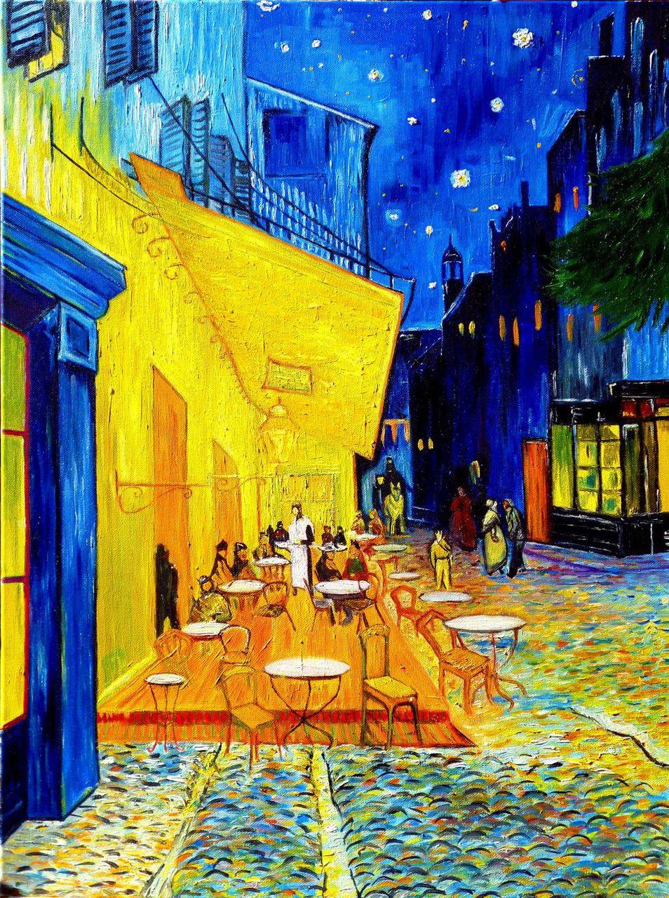 Ночная терраса кафе