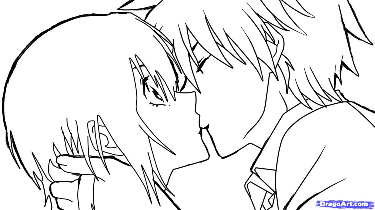 аниме поцелуй 44