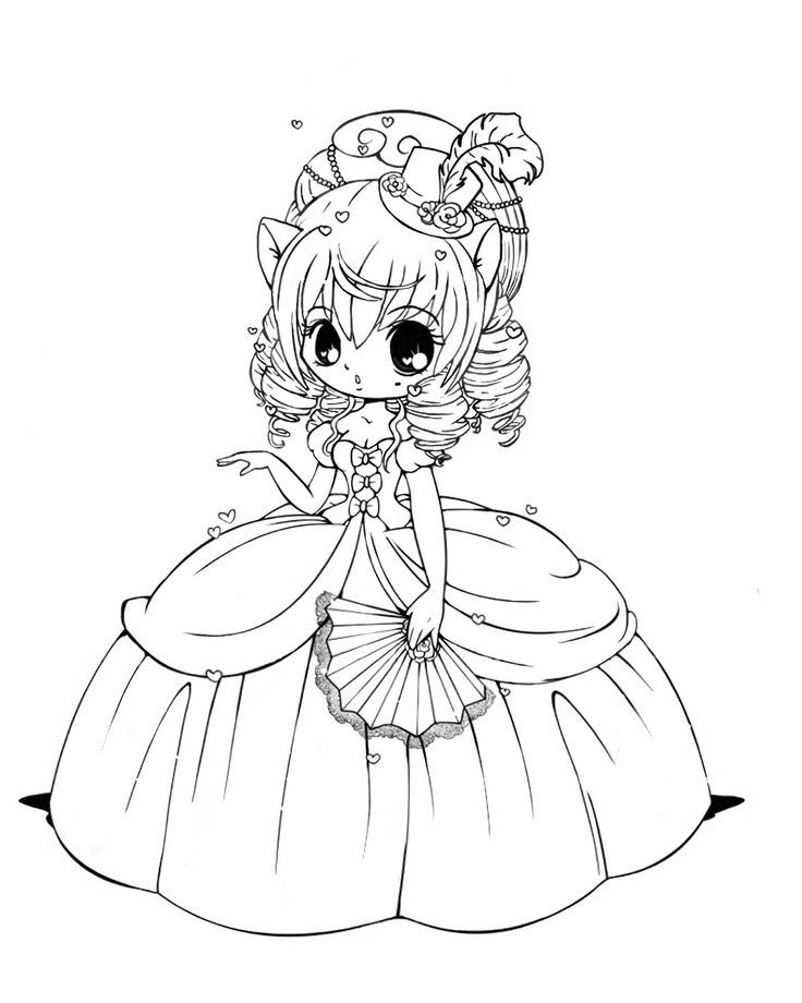 Раскраска принцесса 11