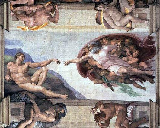 Сотворение Адама Микеланджело