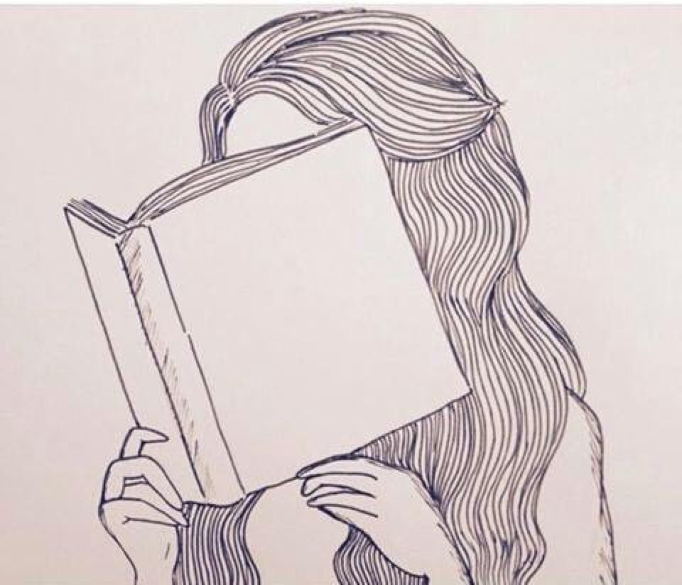 девушка читает книгу 2