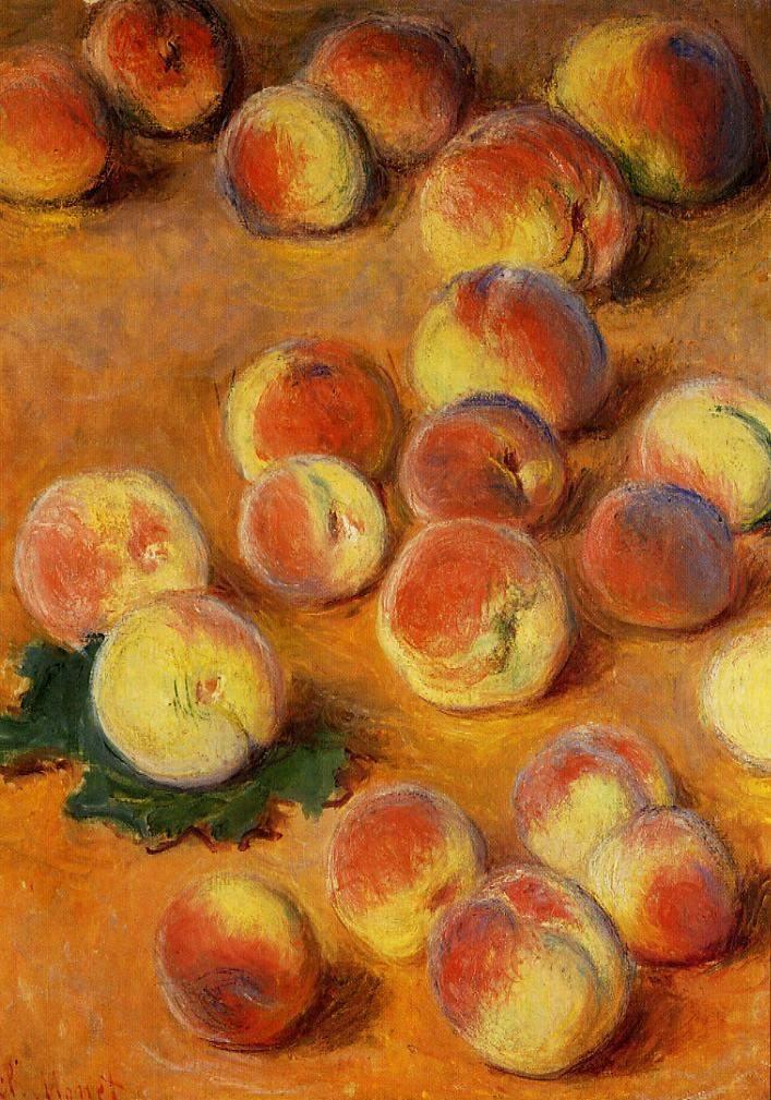 Персики Моне