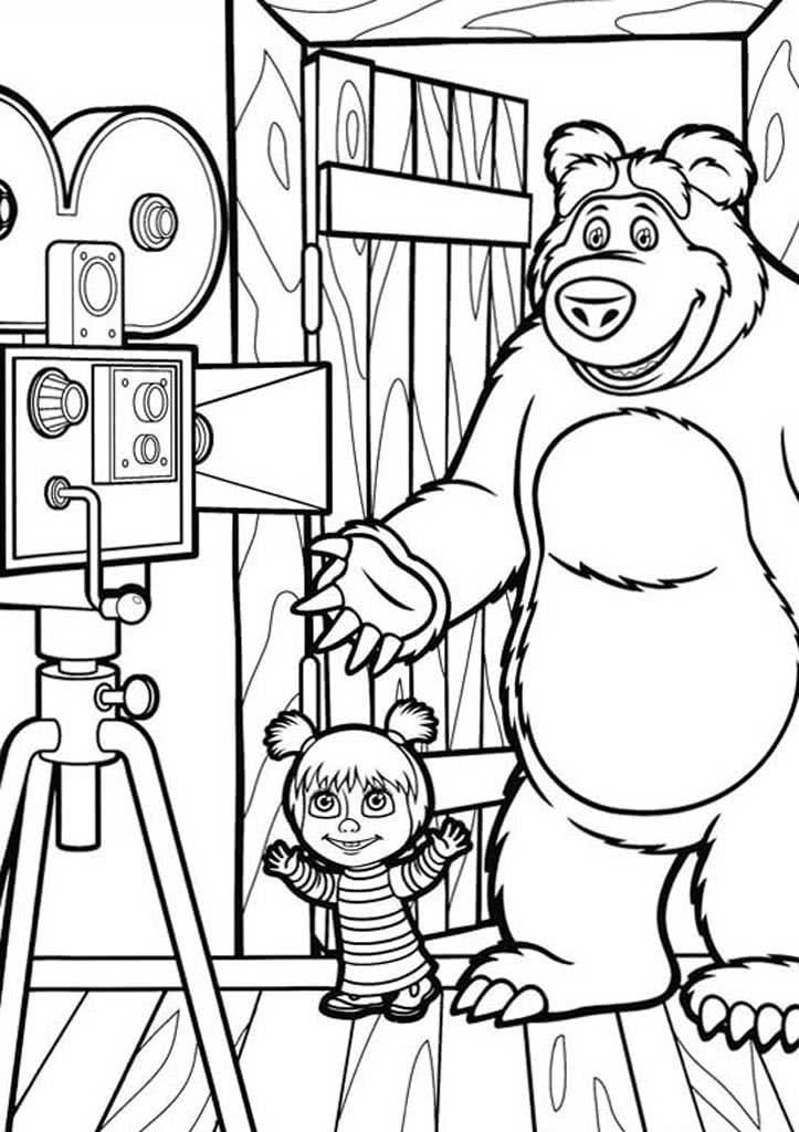 Рисунок Маша и медведь 49
