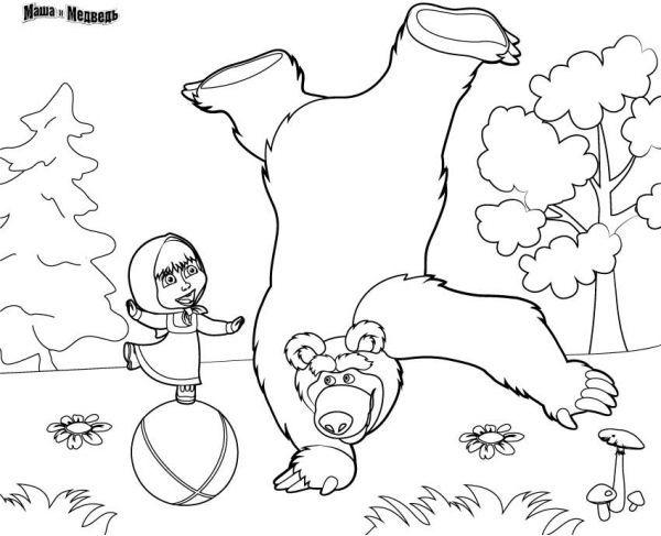 Рисунок Маша и медведь 34