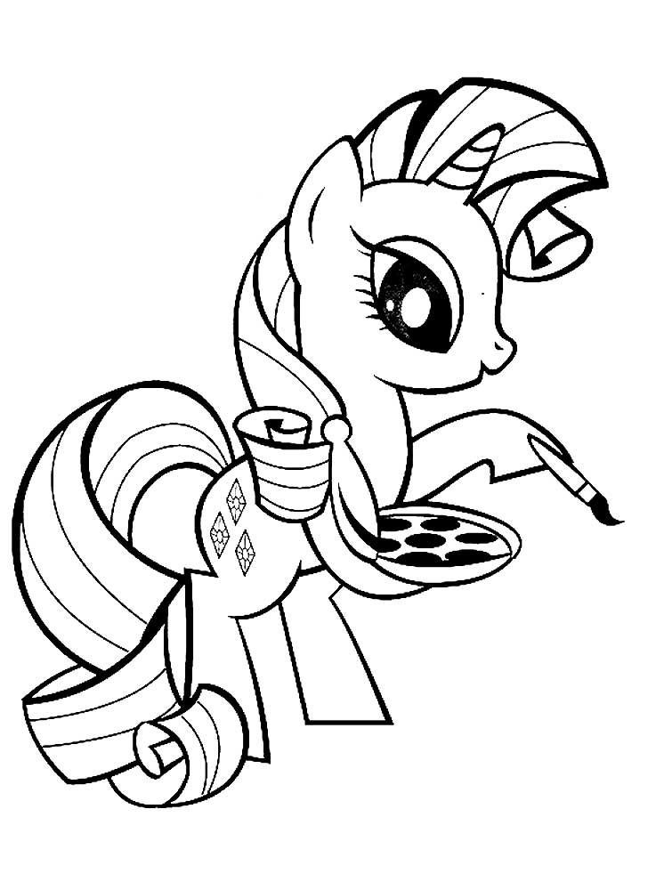 Раскраска пони 7