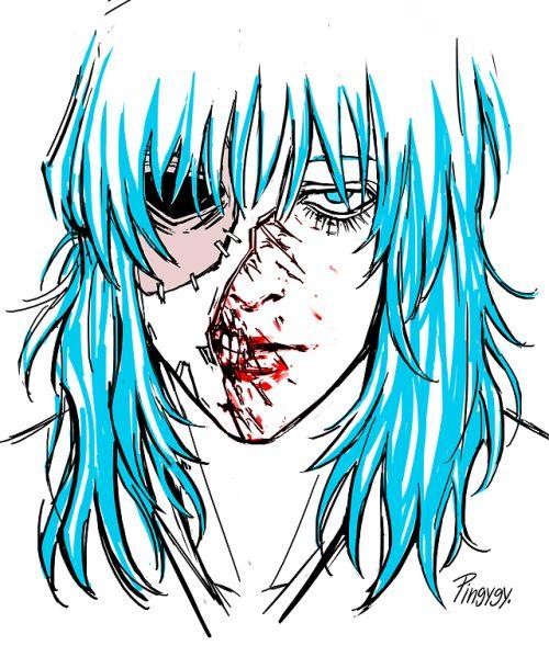 рисунок Салли фейс без маски