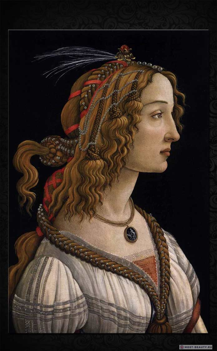 Портрет молодой женщины Боттичелли