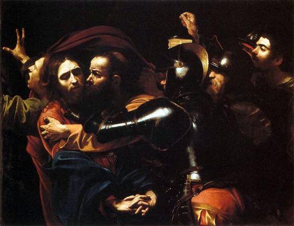 Поцелуй Иуды Караваджо