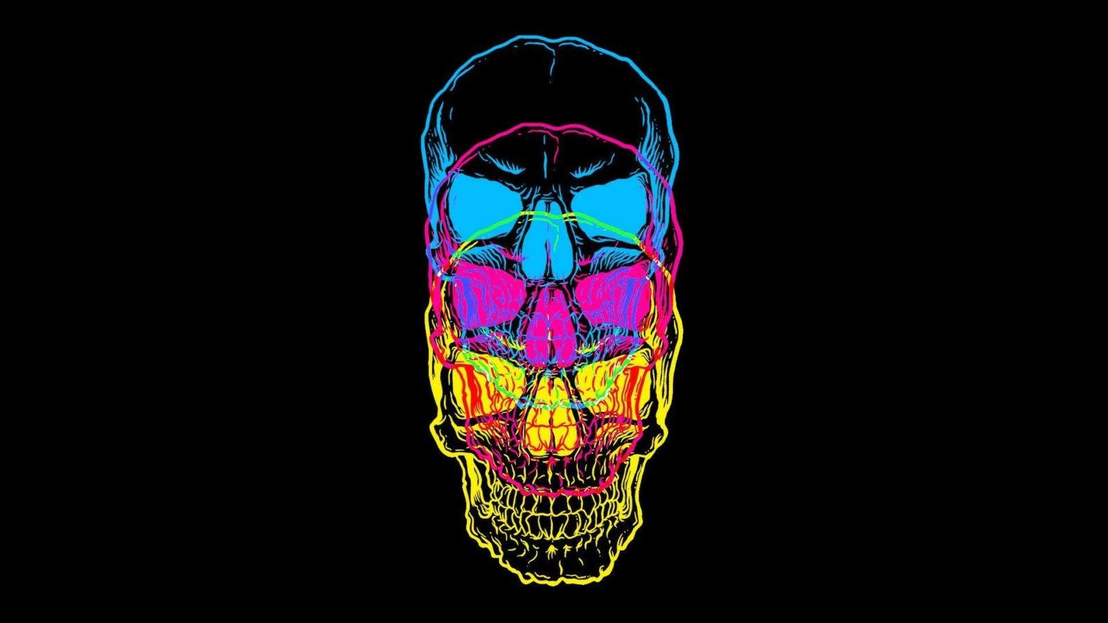 Разноцветный череп