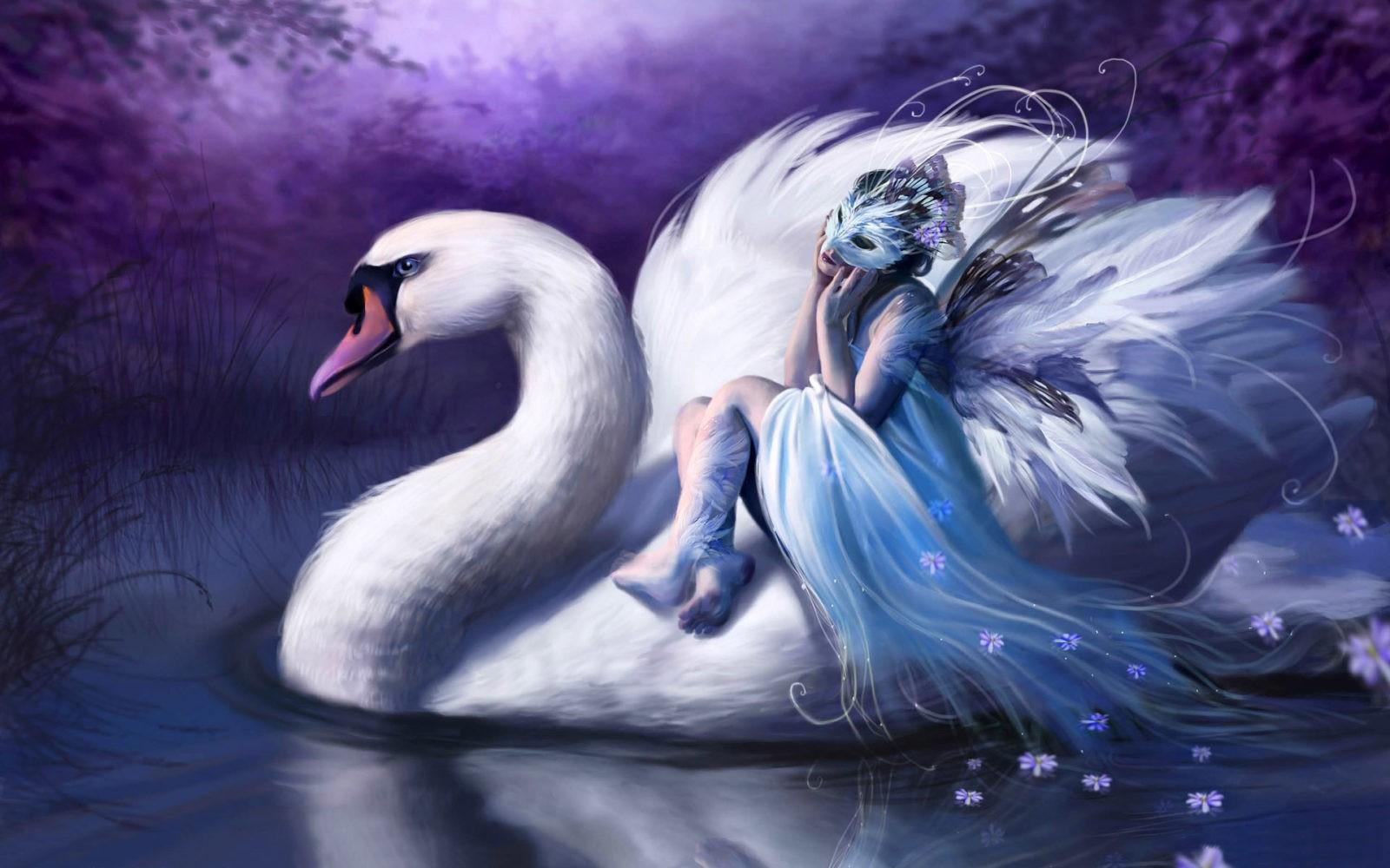 девушка лебедь