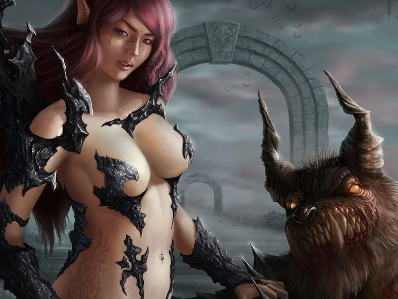 девушка и монстр
